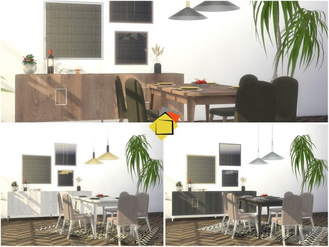 Sims 4 Sona Dining Room by Onyxium at TSR