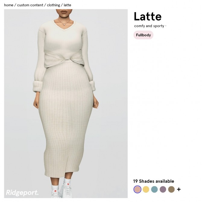Sims 4 Latte Outfit at Ridgeport