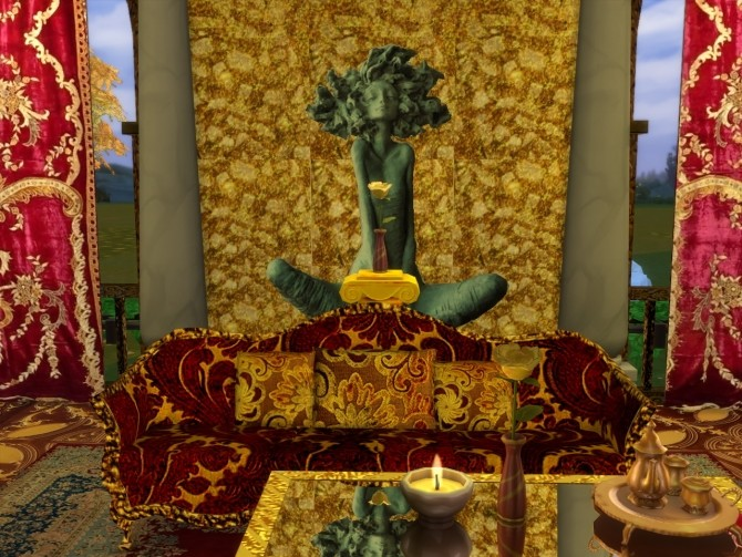 Wall Sculptures and Golden Leaf Plant at Anna Quinn Stories image 1262 670x503 Sims 4 Updates