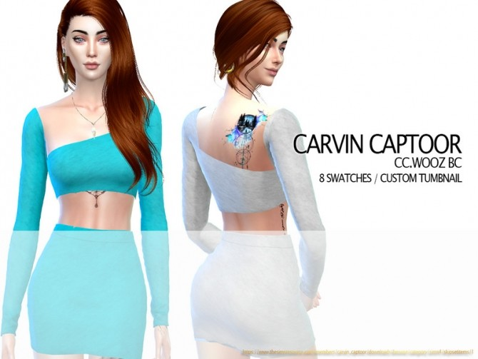 Sims 4 Tam Top by carvin captoor at TSR