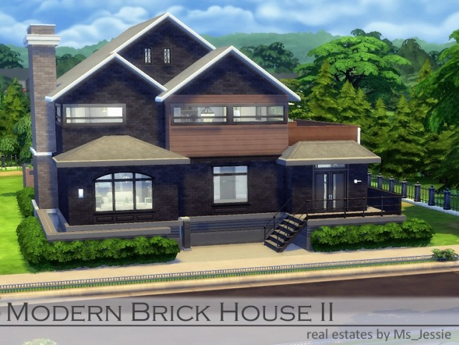 Modern Brick House II by Ms Jessie at TSR image 1270 670x503 Sims 4 Updates