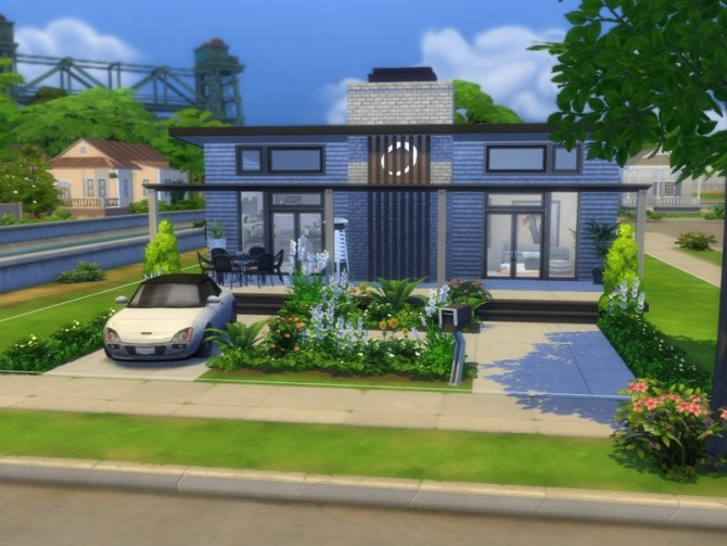 Sims 4 Modern Family Home by FancyPantsGeneral112 at TSR