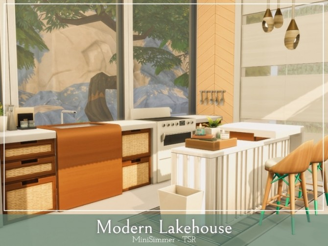 Modern Lake house by Mini Simmer at TSR image 1280 670x503 Sims 4 Updates