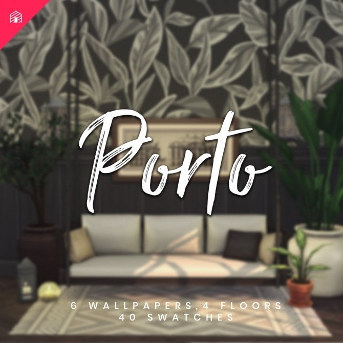 Sims 4 Porto 10 piece collection of wallpapers & floors at Harrie