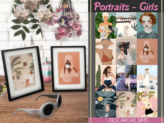 Sims 4 Girls portraits at Descargas Sims