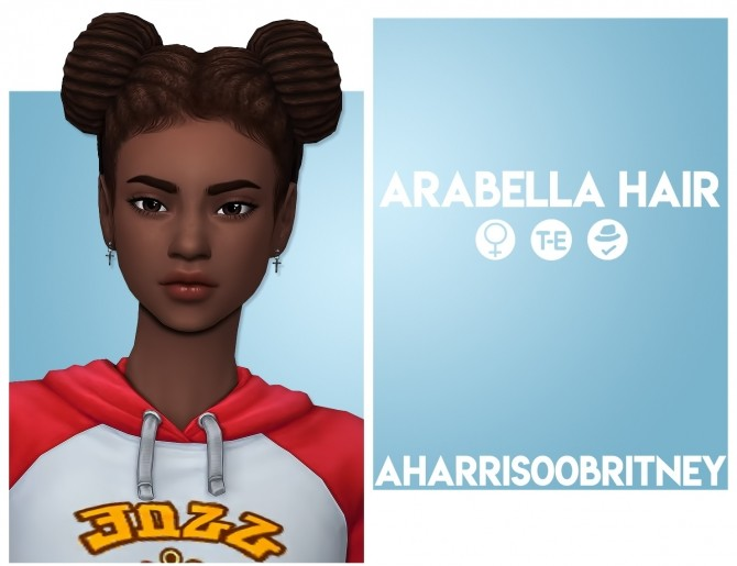 Sims 4 Arabella Hair at AHarris00Britney