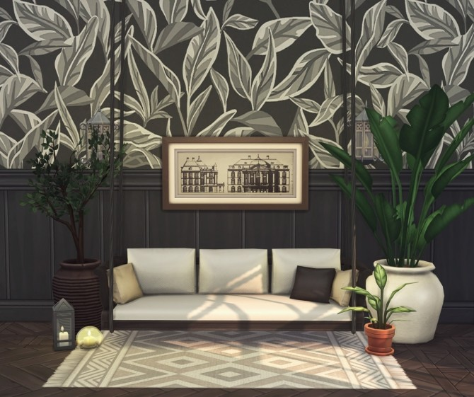 Porto 10 piece collection of wallpapers & floors at Harrie image 1325 670x561 Sims 4 Updates