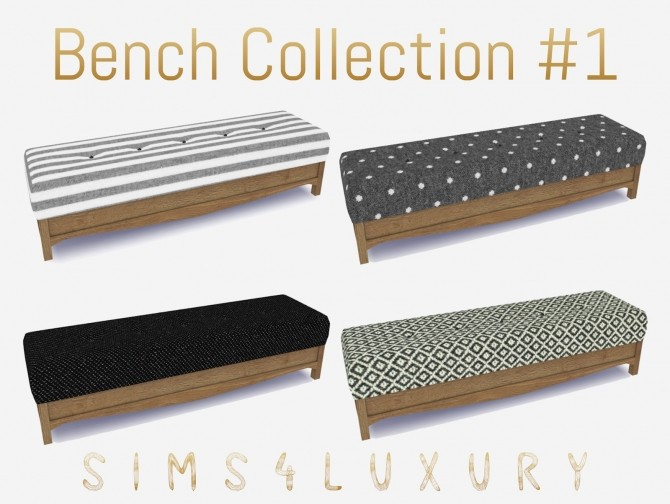 Sims 4 Bench Collection #1 at Sims4 Luxury