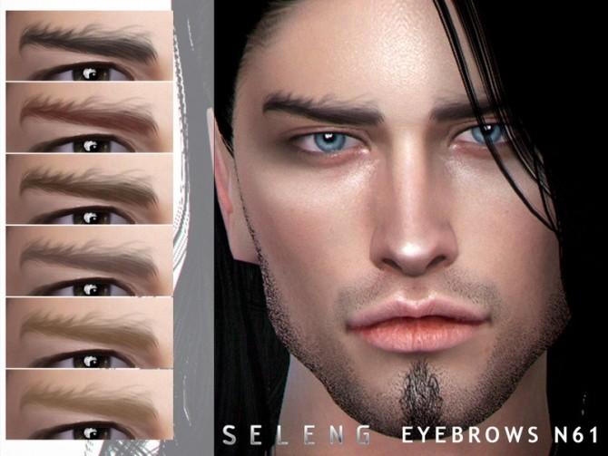 Sims 4 Eyebrows N61 by Seleng at TSR