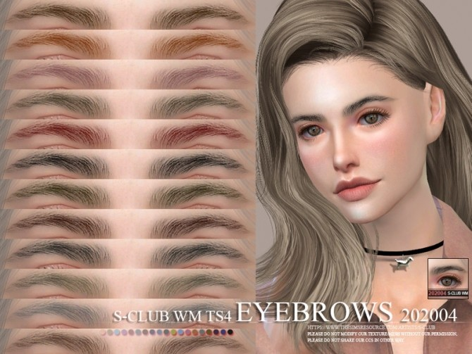 Sims 4 Eyebrows 202004 by S Club WM at TSR