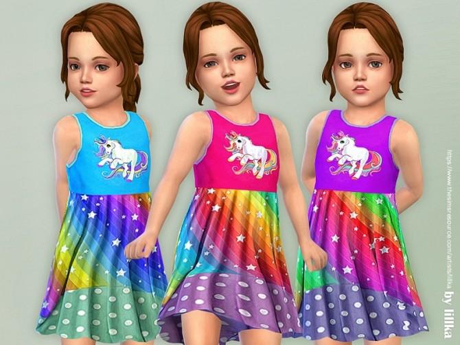 Sims 4 Unicorn Dress by lillka at TSR