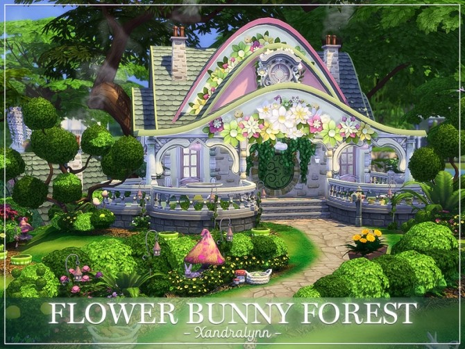 Flower Bunny Forest fairytale dwelling by Xandralynn at TSR image 138 670x503 Sims 4 Updates