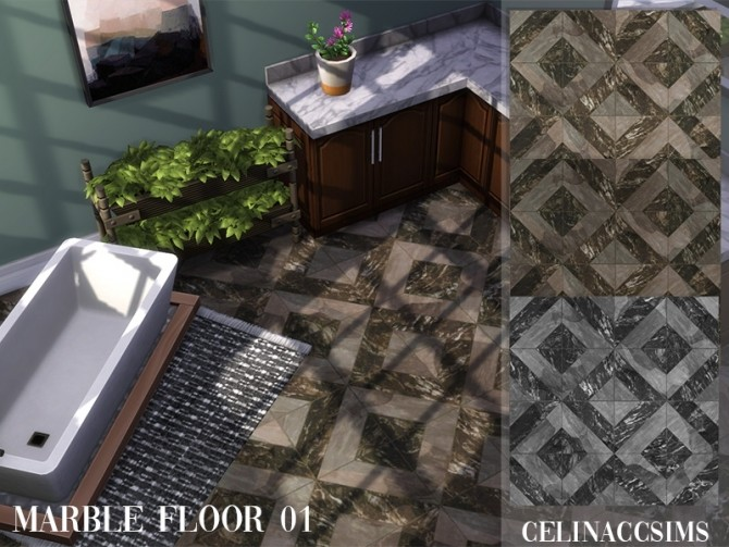Marble floor 01 at Celinaccsims image 13819 670x503 Sims 4 Updates