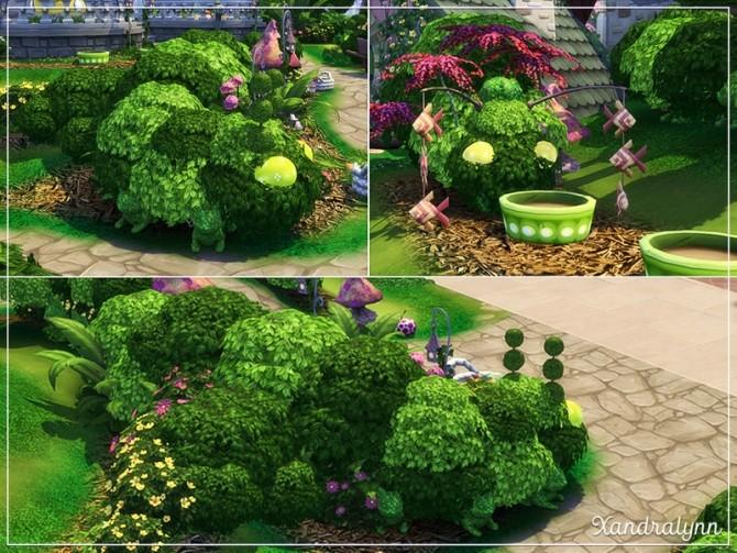 Sims 4 Flower Bunny Forest fairytale dwelling by Xandralynn at TSR