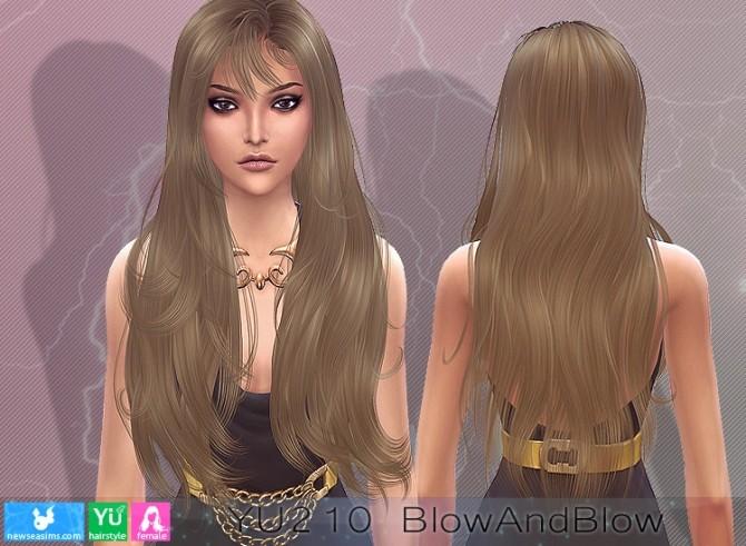 Sims 4 YU210 BlowandBlow hair (P) at Newsea Sims 4