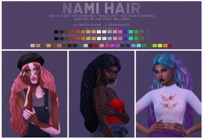 Sims 4 NAMI HAIR at Candy Sims 4
