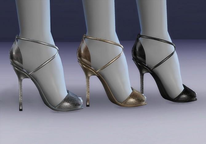 Sims 4 Emsy Metallic Sandals at MASIMS