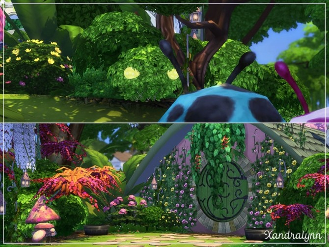 Flower Bunny Forest fairytale dwelling by Xandralynn at TSR image 140 670x503 Sims 4 Updates