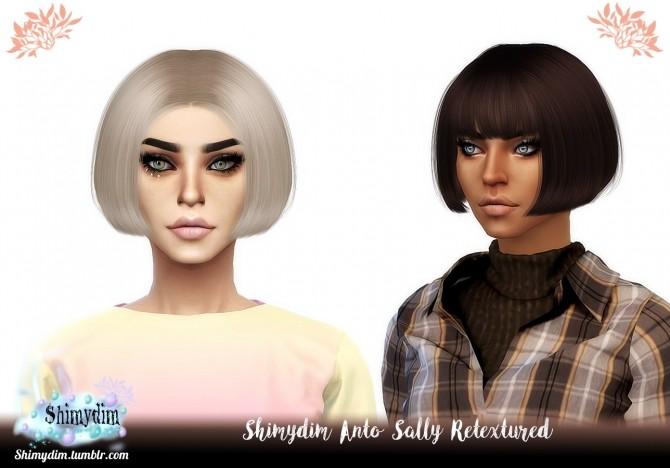 Sims 4 Anto Sally Hair Retexture Naturals + Unnaturals at Shimydim Sims