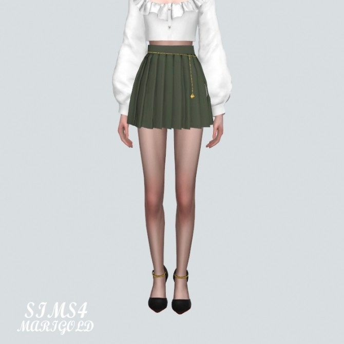 Pleats Skirt With Heart Chain at Marigold image 14020 670x670 Sims 4 Updates