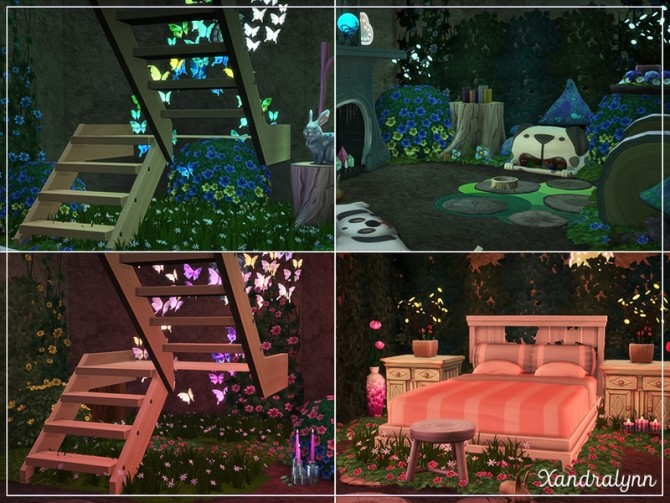 Flower Bunny Forest fairytale dwelling by Xandralynn at TSR image 141 670x503 Sims 4 Updates