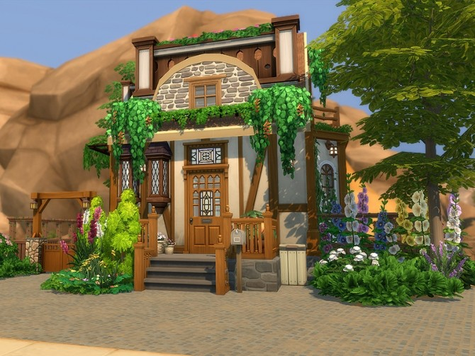 Sims 4 Mabel Tiny Cottage by Ineliz at TSR