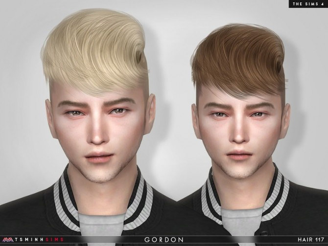 Sims 4 Gordon Hair 117 by TsminhSims at TSR
