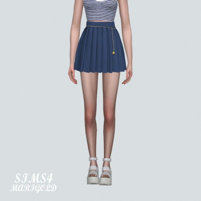 Pleats Skirt With Heart Chain at Marigold image 14124 670x670 Sims 4 Updates