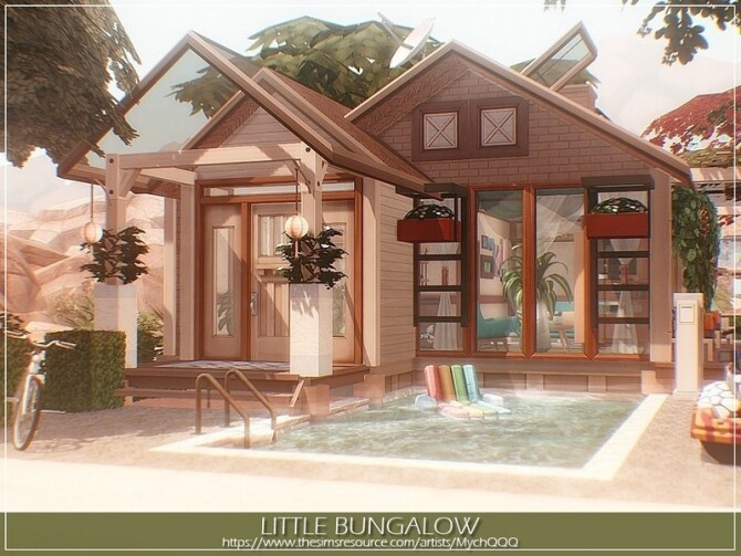 Little Bungalow by MychQQQ at TSR image 14125 670x503 Sims 4 Updates