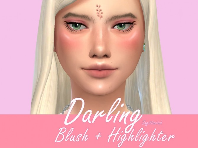 Sims 4 Darling Blush & Highlighter by Sagittariah at TSR
