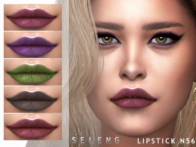 Lipstick N56 by Seleng at TSR image 142 670x503 Sims 4 Updates