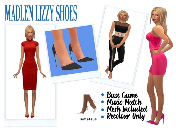 Sims 4 MADLEN'S LIZZY SHOES at Sims4Sue