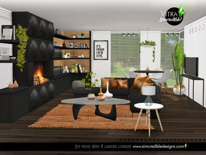 Vitra Living Room by SIMcredible at TSR image 14219 670x503 Sims 4 Updates