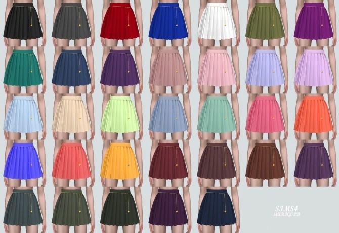 Pleats Skirt With Heart Chain at Marigold image 14222 670x461 Sims 4 Updates
