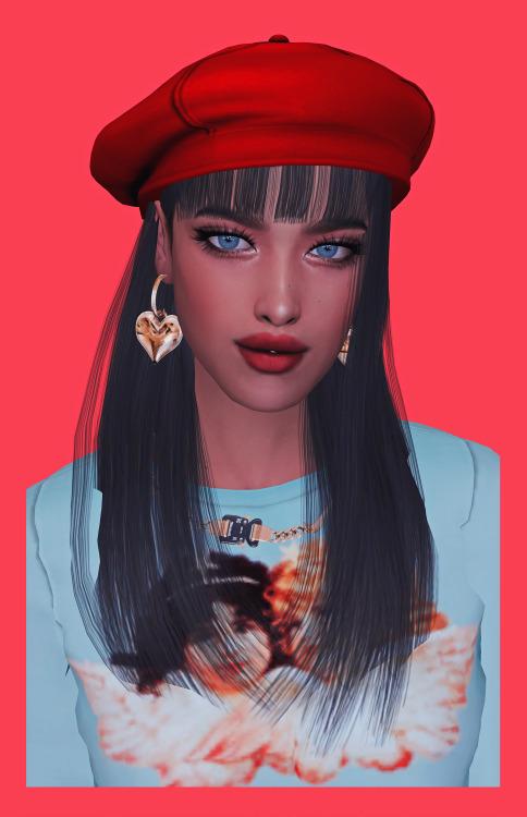 Sims 4 Maya Hair + hair clips (Kiro) at OJE