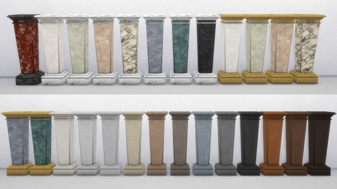 Sims 4 Elegant Marble Pedestal by TheJim07 at Mod The Sims