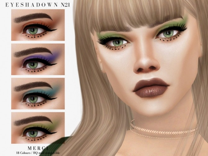 Eyeshadow N21 by Merci at TSR image 144 670x503 Sims 4 Updates
