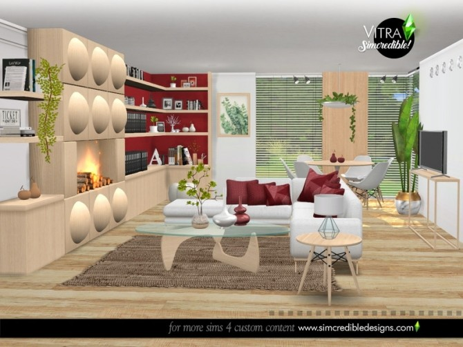 Vitra Living Room by SIMcredible at TSR image 14416 670x503 Sims 4 Updates