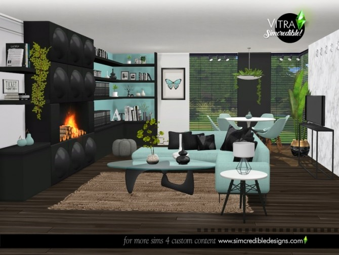 Vitra Living Room by SIMcredible at TSR image 14517 670x503 Sims 4 Updates