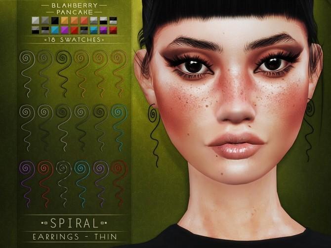 Sims 4 Spiral earrings at Blahberry Pancake