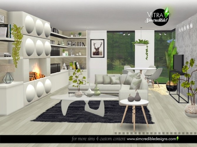 Vitra Living Room by SIMcredible at TSR image 14615 670x503 Sims 4 Updates