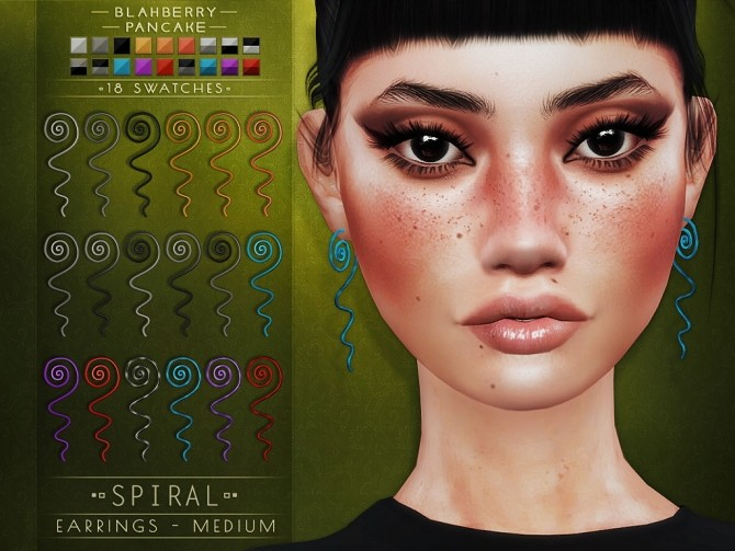 Spiral earrings at Blahberry Pancake image 1463 670x503 Sims 4 Updates