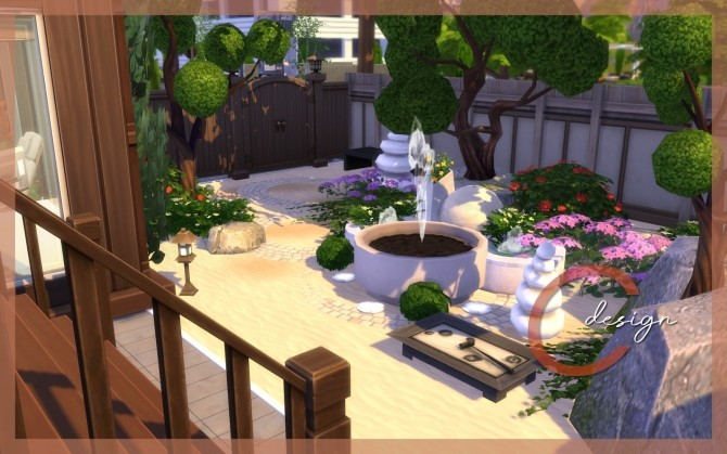 Sims 4 Japanese Beauty house at Cross Design