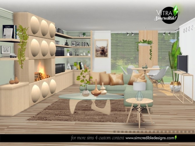 Vitra Living Room by SIMcredible at TSR image 14716 670x503 Sims 4 Updates