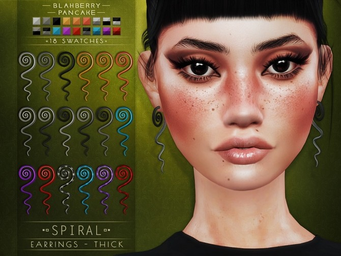 Spiral earrings at Blahberry Pancake image 1474 670x503 Sims 4 Updates