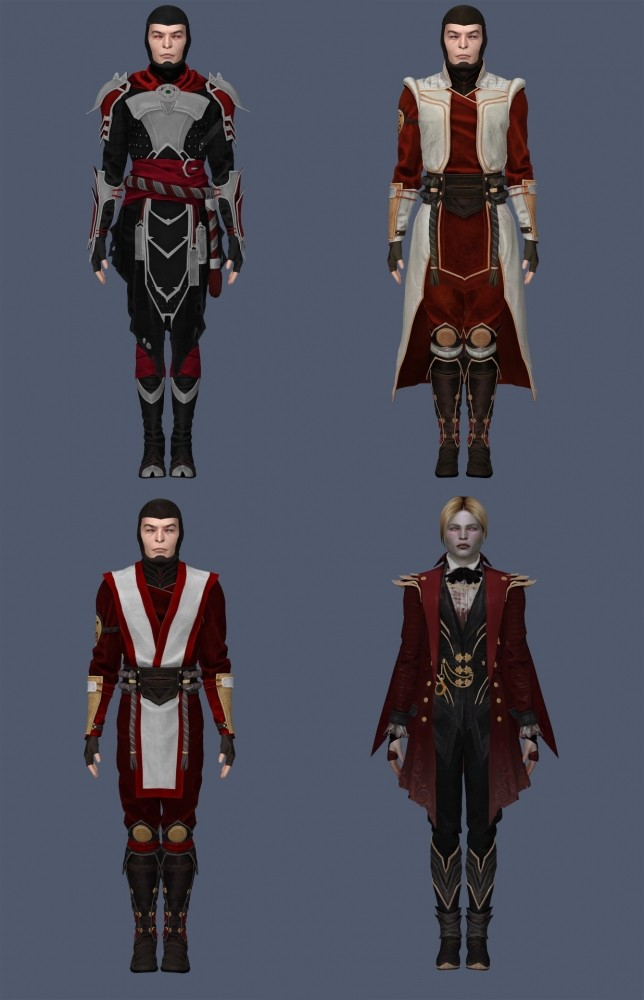 Sims 4 Raiden Outfits & Accessories Set at Astya96
