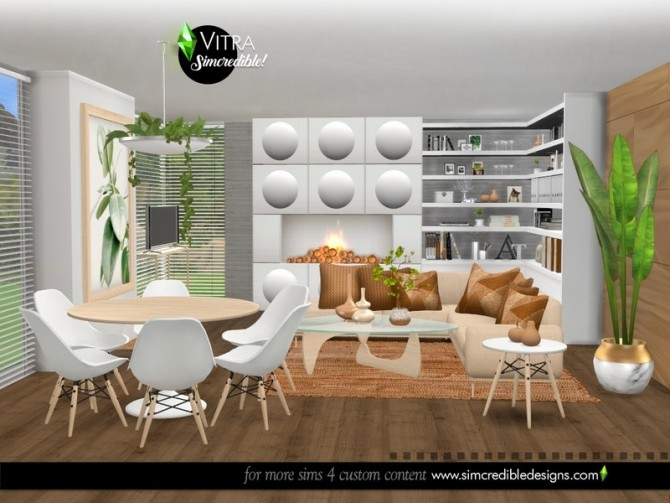 Vitra Living Room by SIMcredible at TSR image 14914 670x503 Sims 4 Updates