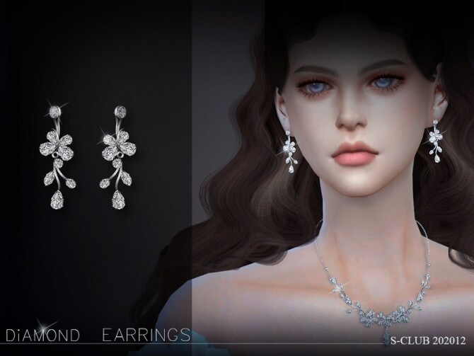 Sims 4 EARRINGS 202012 by S Club LL at TSR