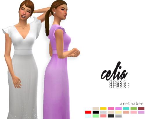 Celia dress at Arethabee image 1493 Sims 4 Updates