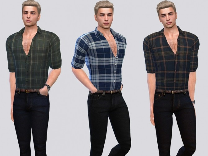 Sims 4 Barn Plaid Shirt by McLayneSims at TSR